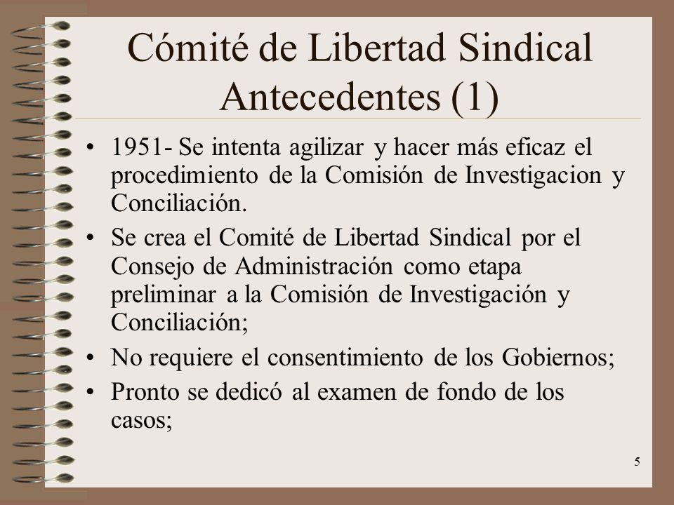Cómité de Libertad Sindical Antecedentes (1)