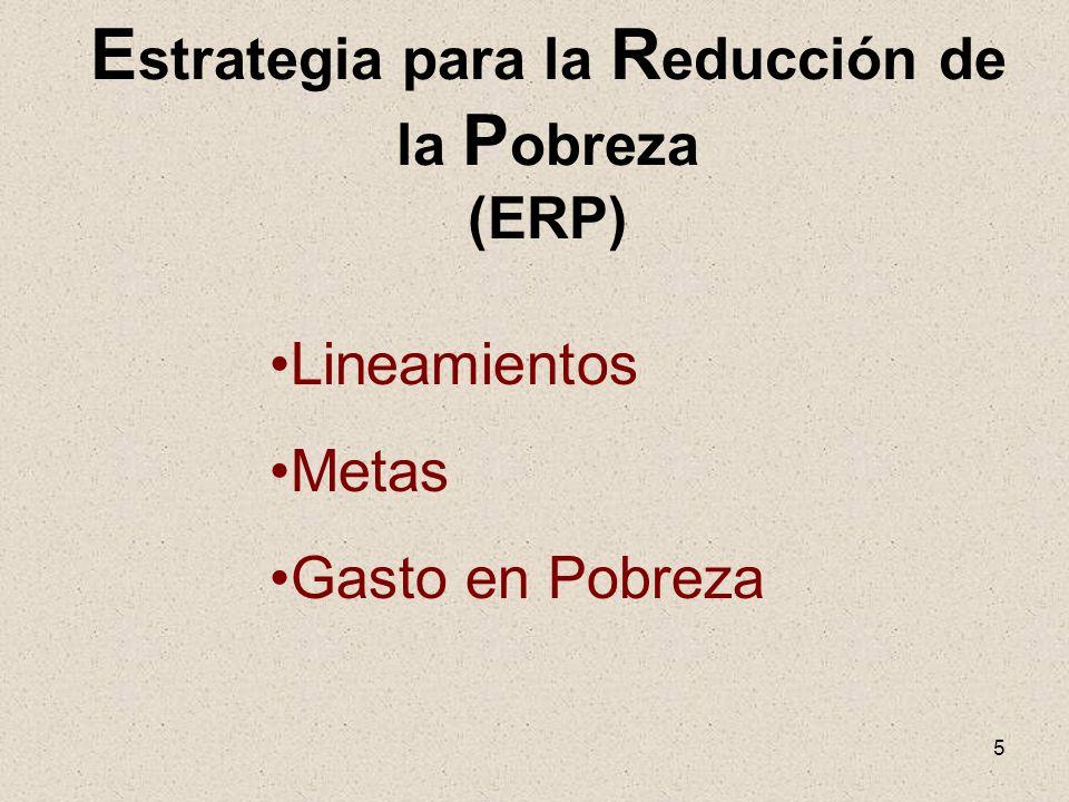 Estrategia para la Reducción de la Pobreza (ERP)