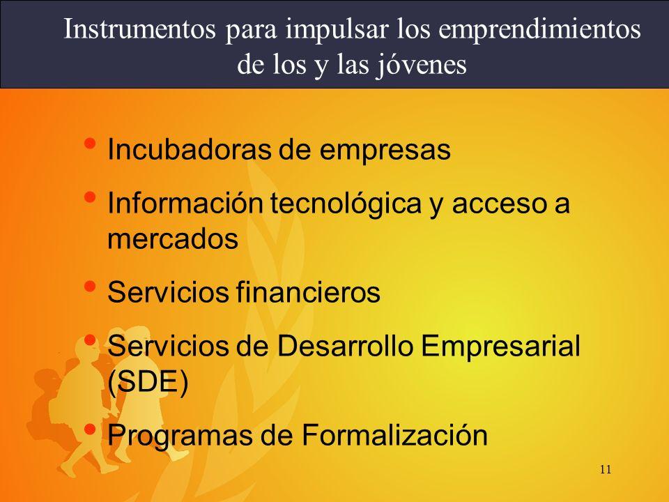 Instrumentos para impulsar los emprendimientos de los y las jóvenes