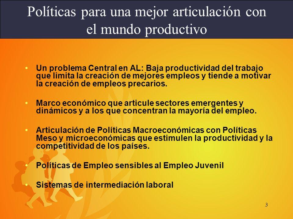 Políticas para una mejor articulación con el mundo productivo
