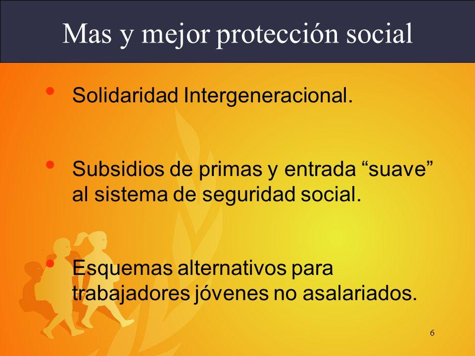 Mas y mejor protección social