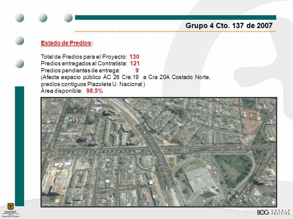 Grupo 4 Cto. 137 de 2007 Estado de Predios: