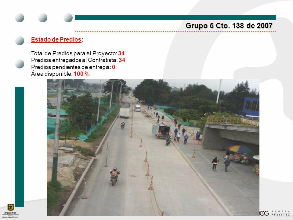 Grupo 5 Cto. 138 de 2007 Estado de Predios: