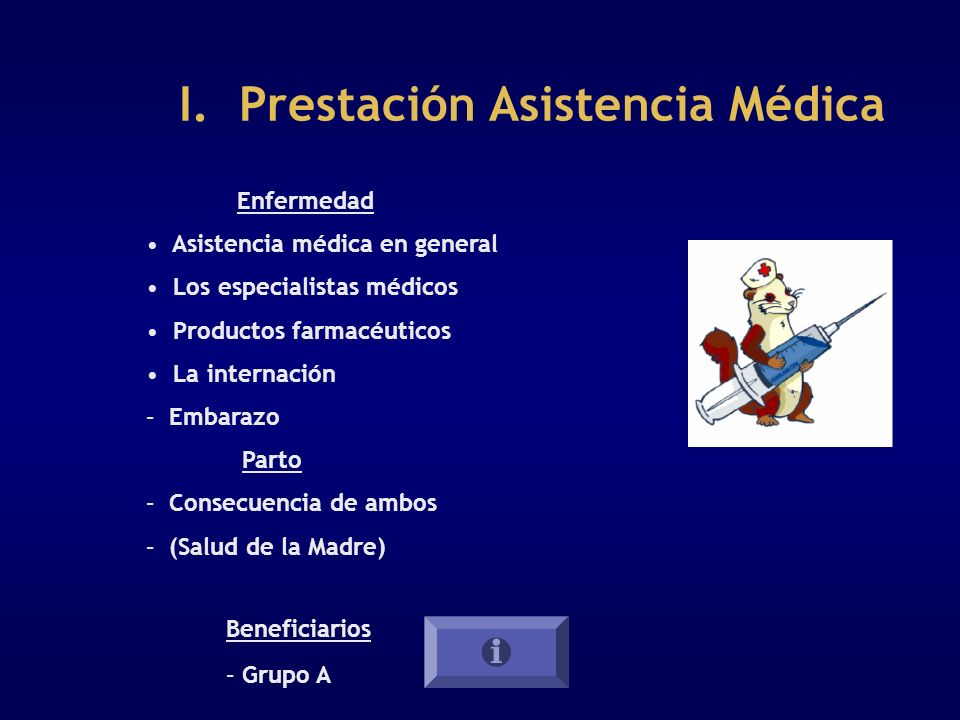 I. Prestación Asistencia Médica