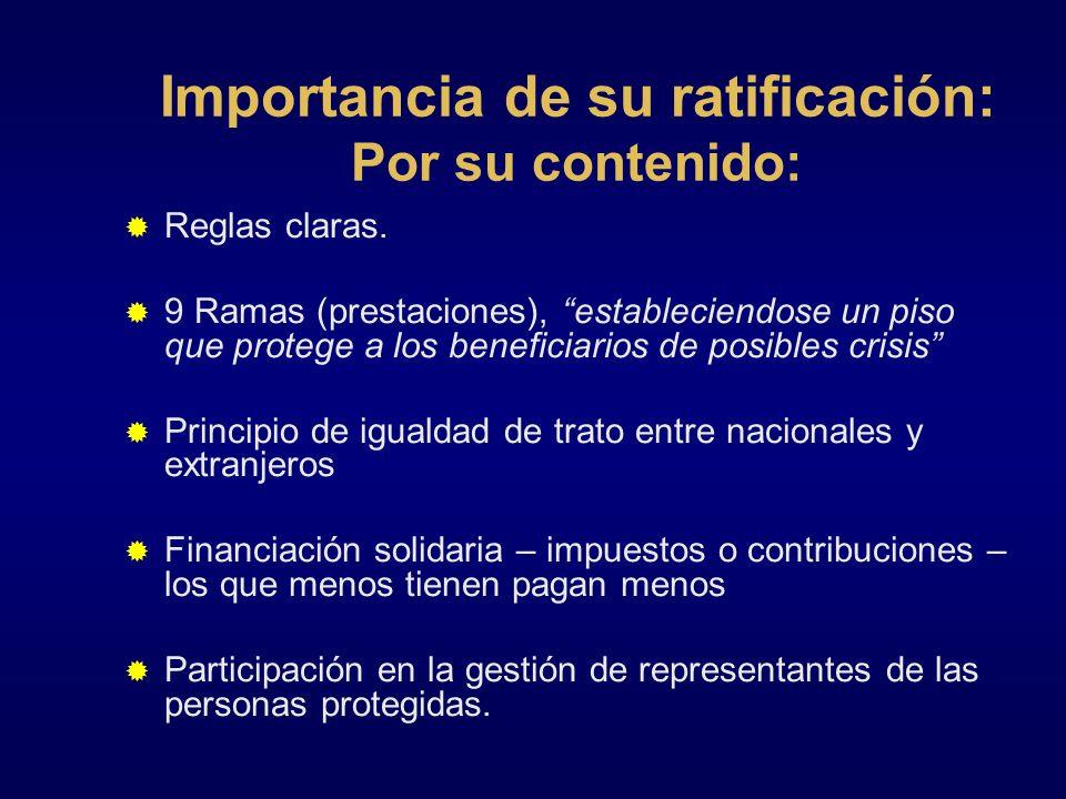 Importancia de su ratificación: Por su contenido: