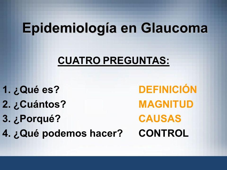 Epidemiología en Glaucoma
