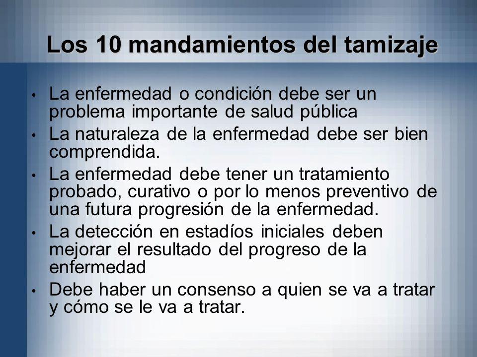 Los 10 mandamientos del tamizaje