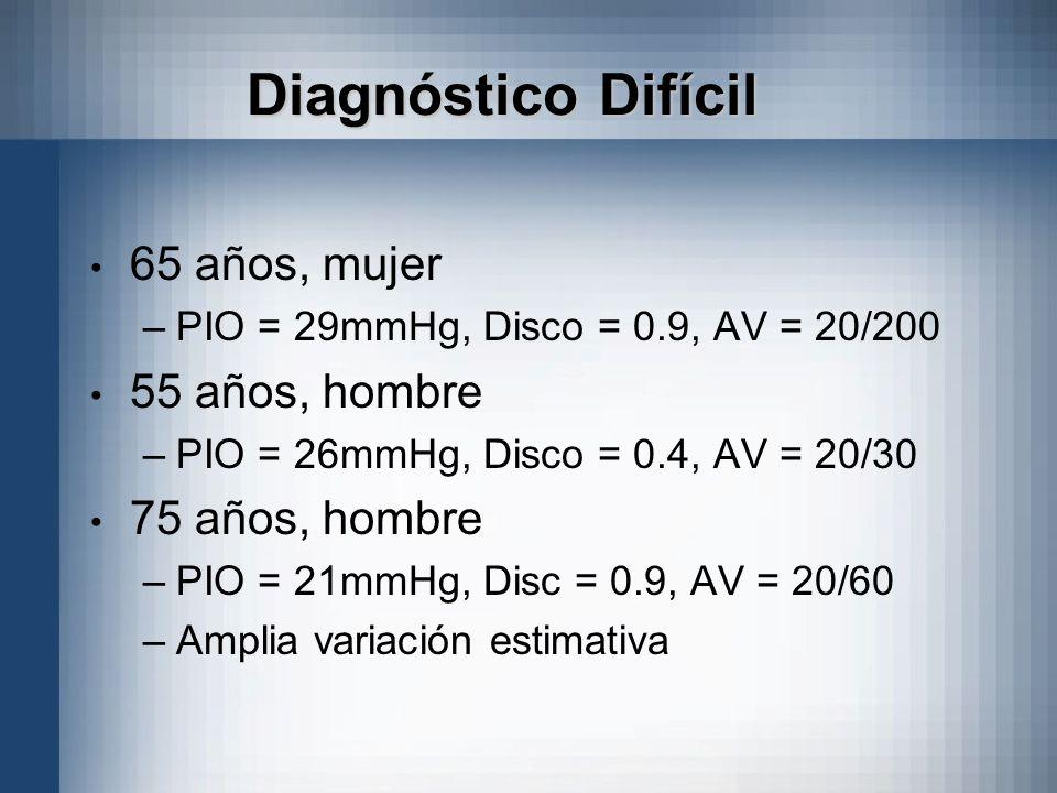 Diagnóstico Difícil 65 años, mujer 55 años, hombre 75 años, hombre