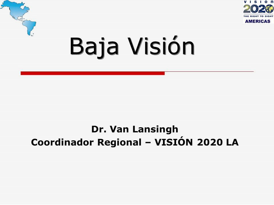 Dr. Van Lansingh Coordinador Regional – VISIÓN 2020 LA