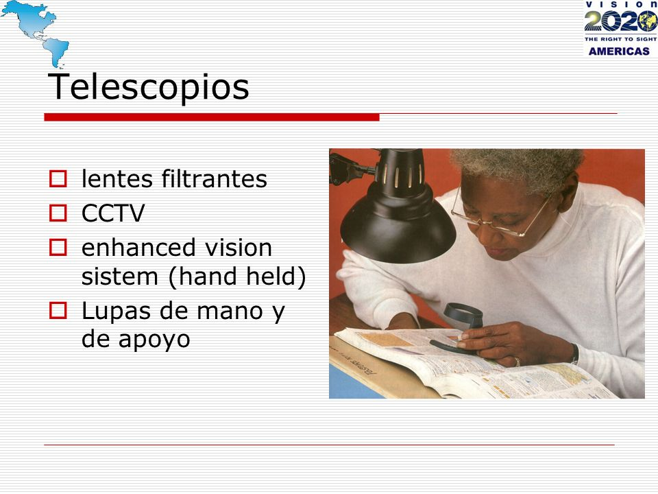 Telescopios lentes filtrantes CCTV enhanced vision sistem (hand held)