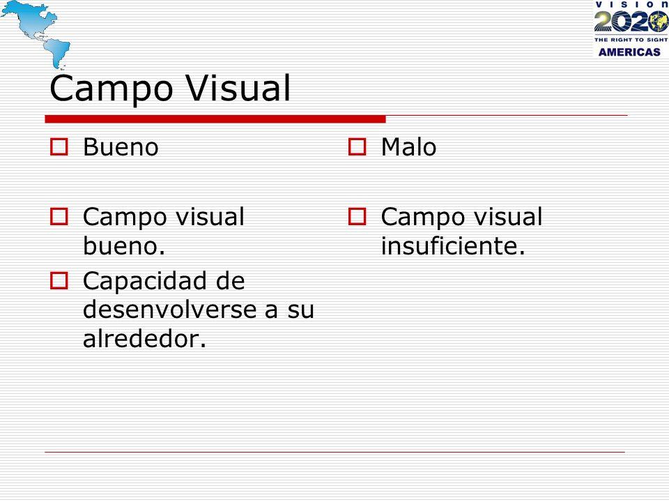Campo Visual Bueno Campo visual bueno.