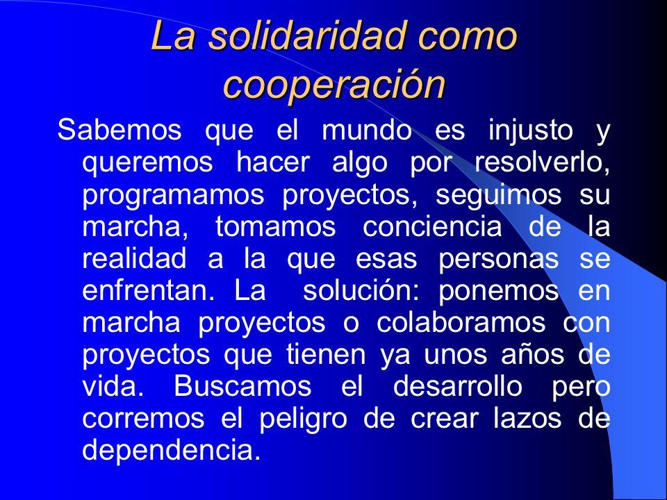 La solidaridad como cooperación