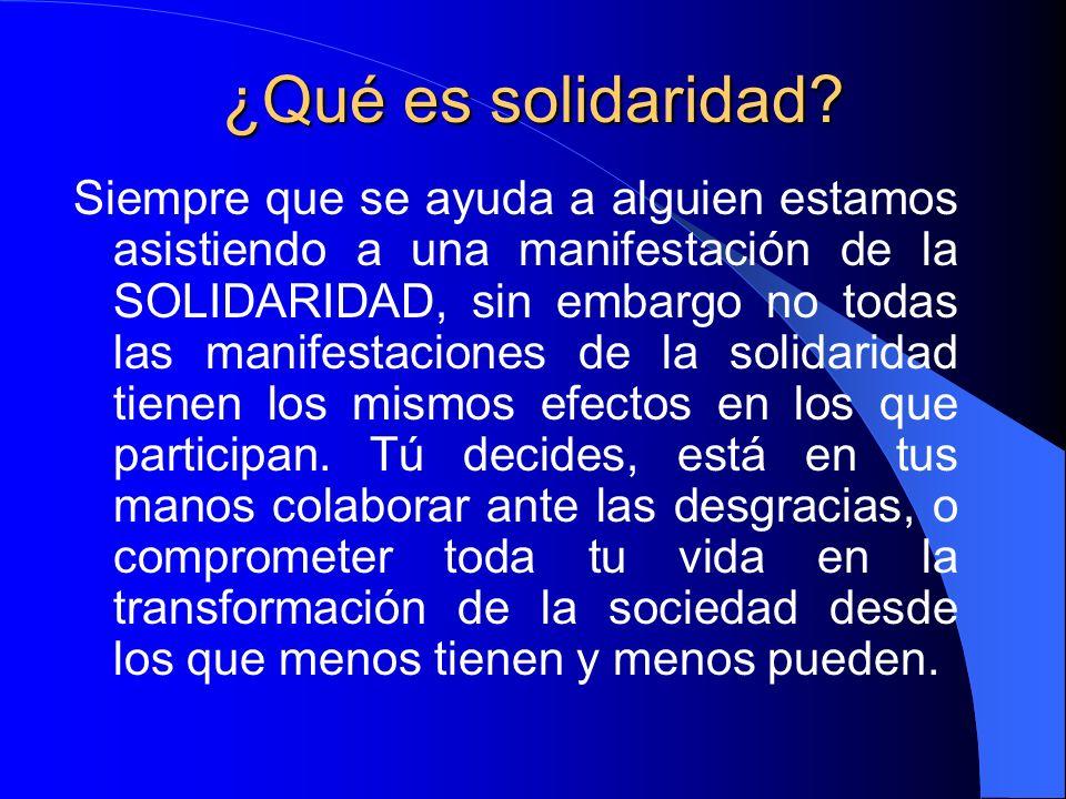 ¿Qué es solidaridad