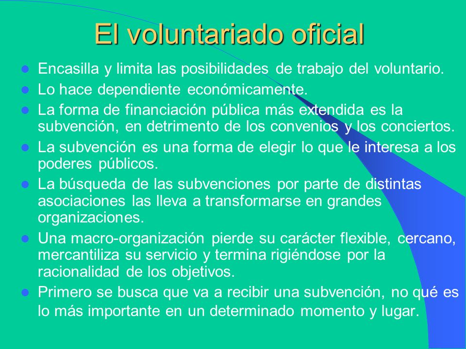 El voluntariado oficial
