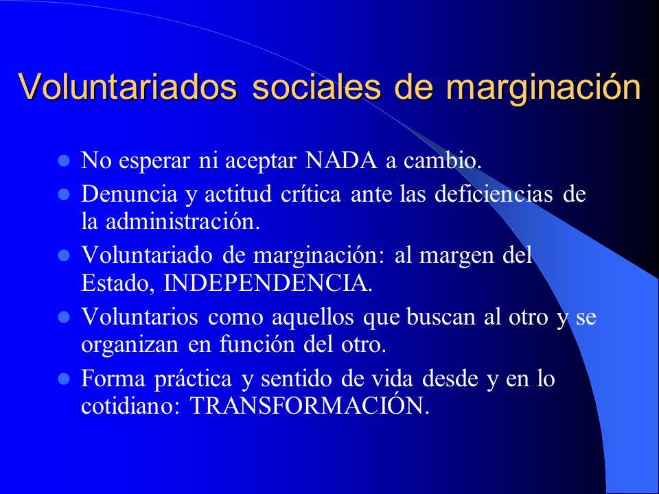 Voluntariados sociales de marginación