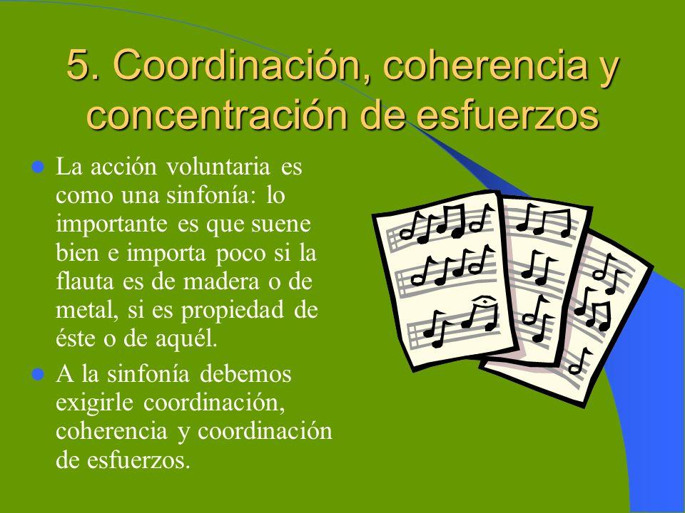 5. Coordinación, coherencia y concentración de esfuerzos