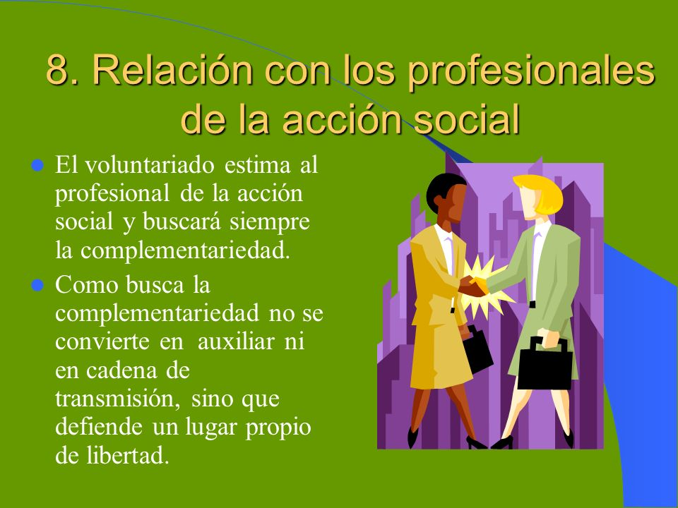 8. Relación con los profesionales de la acción social