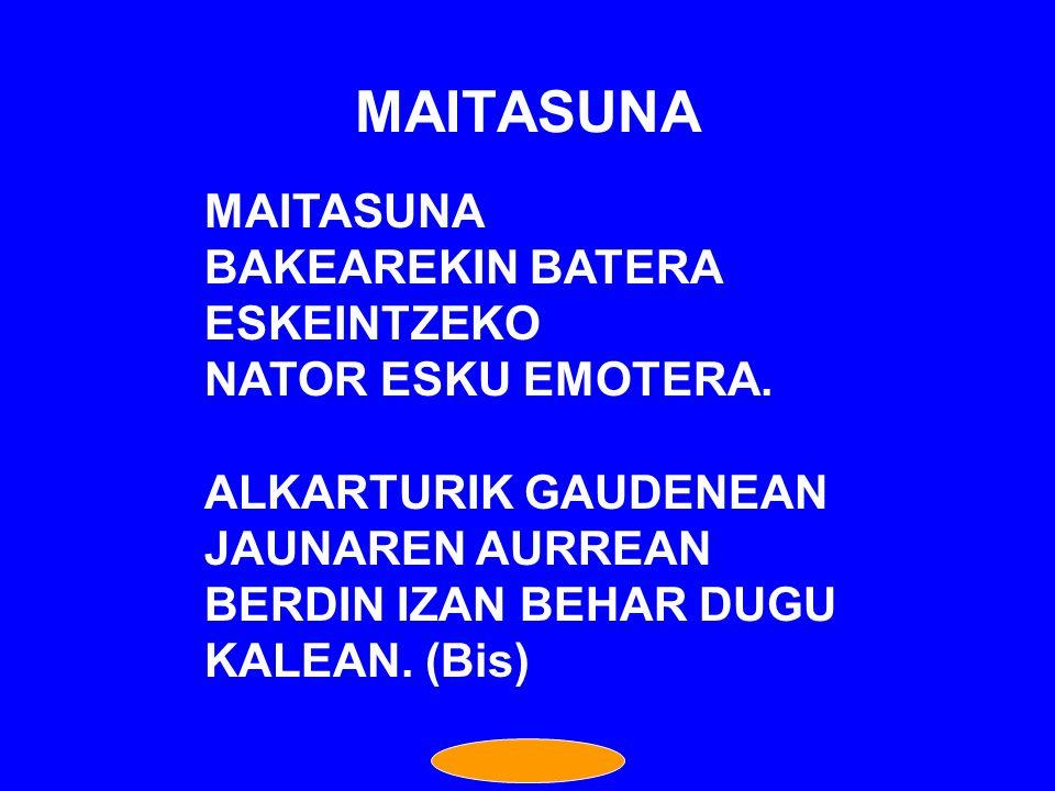 MAITASUNA MAITASUNA BAKEAREKIN BATERA ESKEINTZEKO NATOR ESKU EMOTERA.