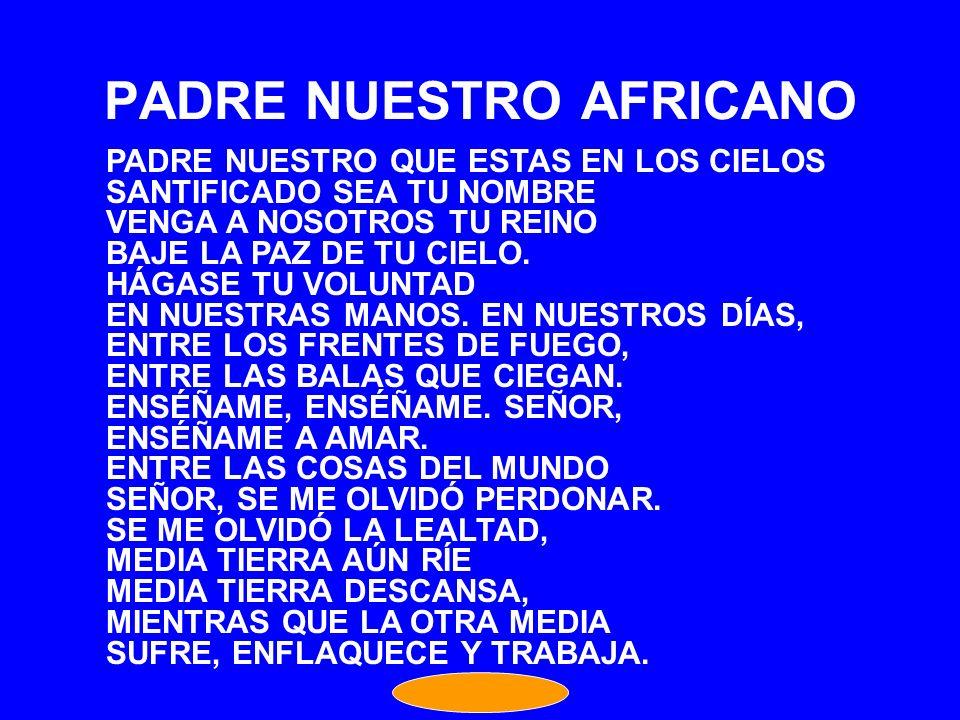 PADRE NUESTRO AFRICANO