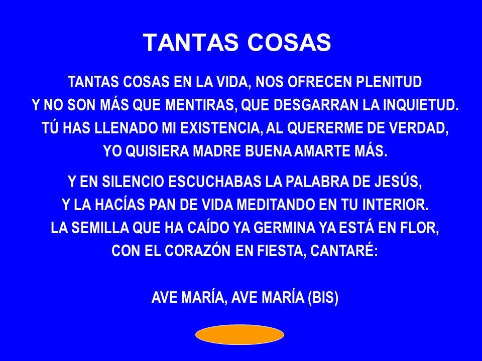 TANTAS COSAS TANTAS COSAS EN LA VIDA, NOS OFRECEN PLENITUD