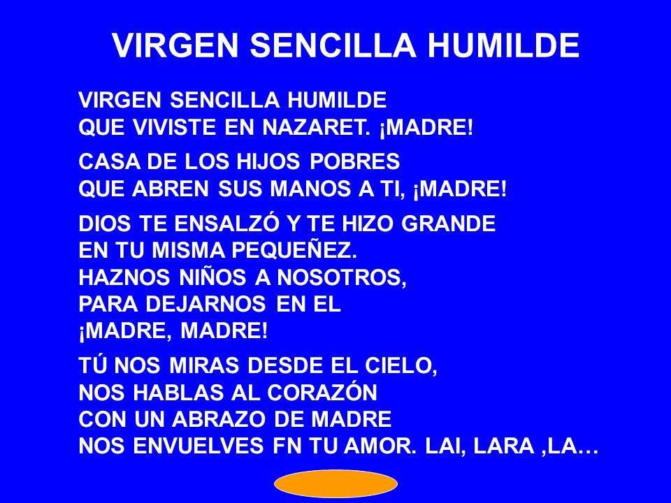 VIRGEN SENCILLA HUMILDE