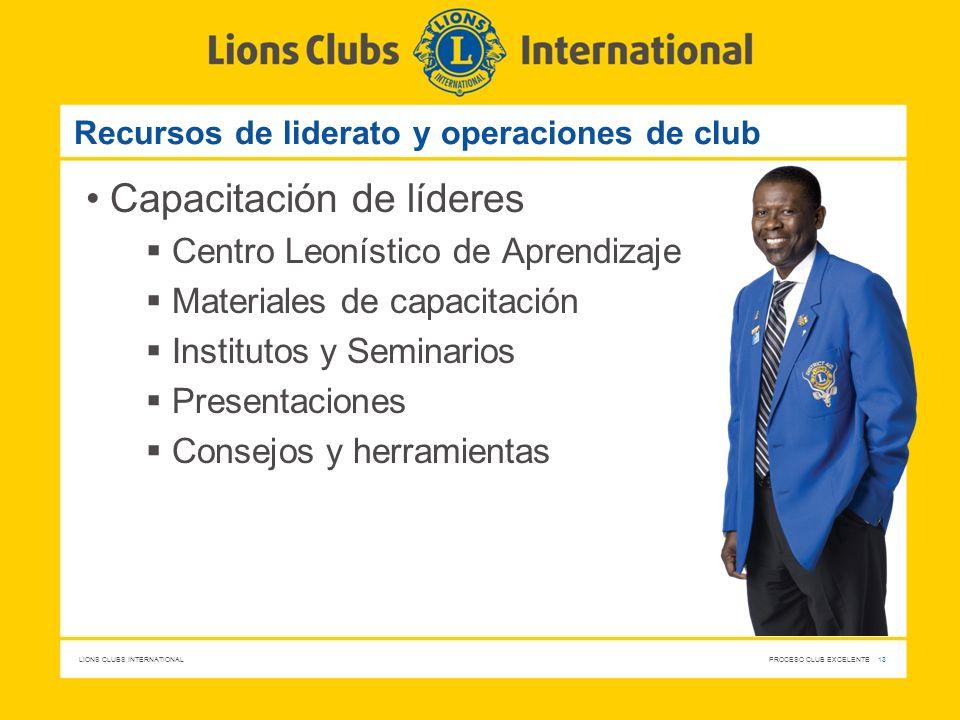 Recursos de liderato y operaciones de club
