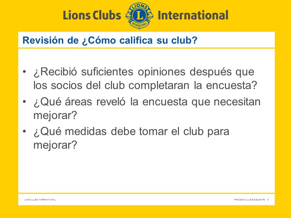 Revisión de ¿Cómo califica su club