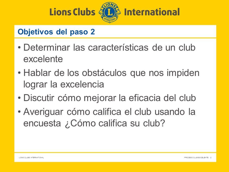 Determinar las características de un club excelente