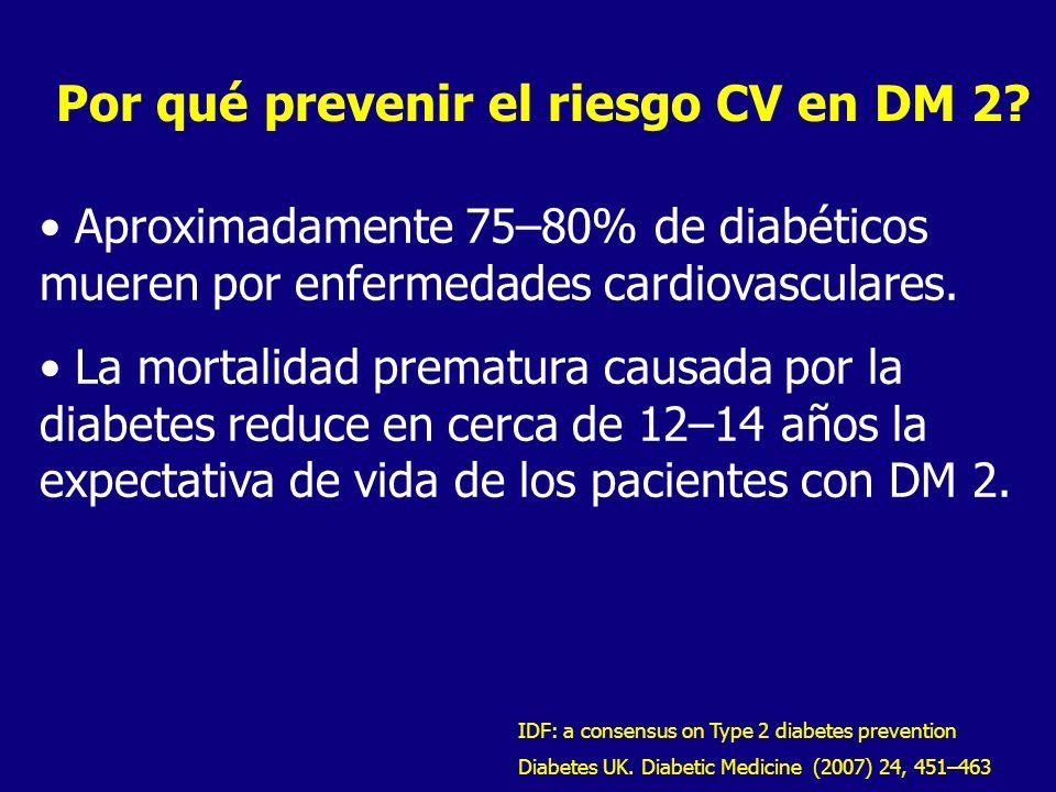 Por qué prevenir el riesgo CV en DM 2