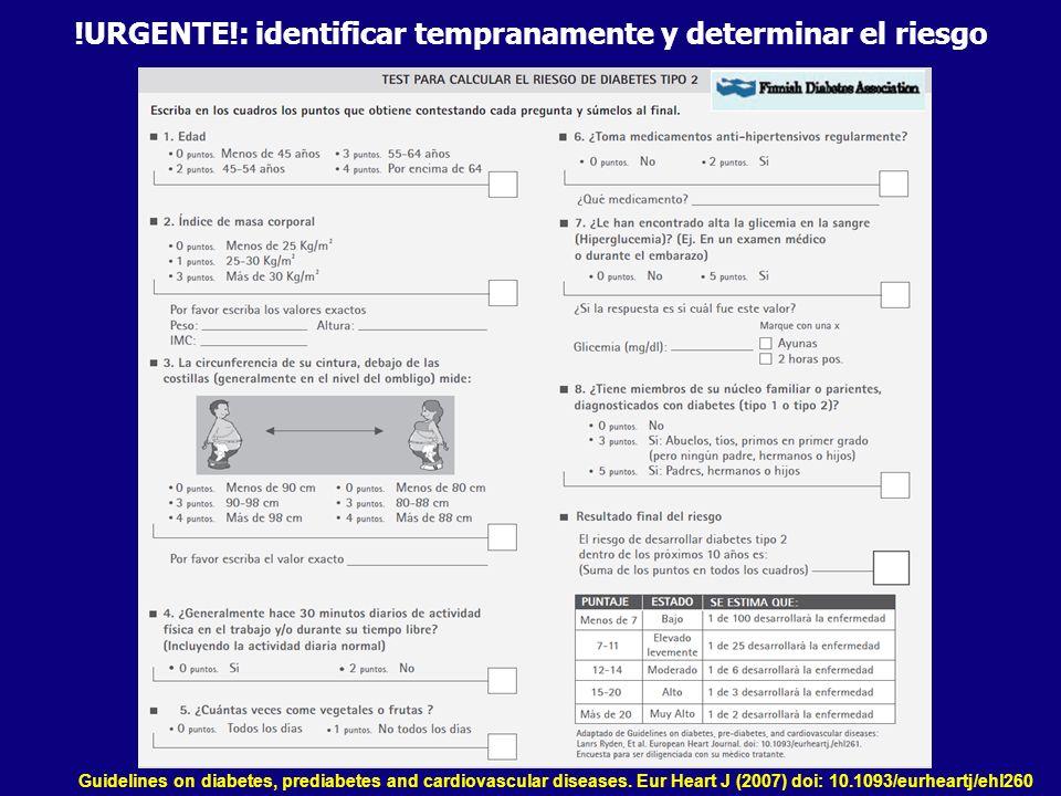 !URGENTE!: identificar tempranamente y determinar el riesgo