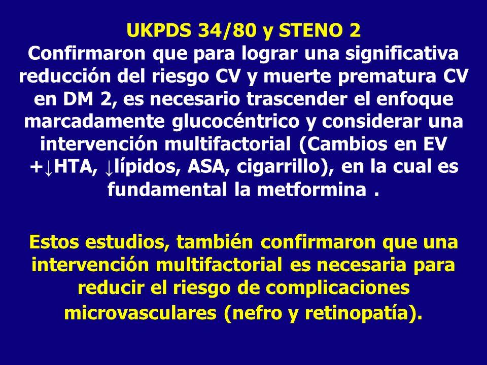 UKPDS 34/80 y STENO 2