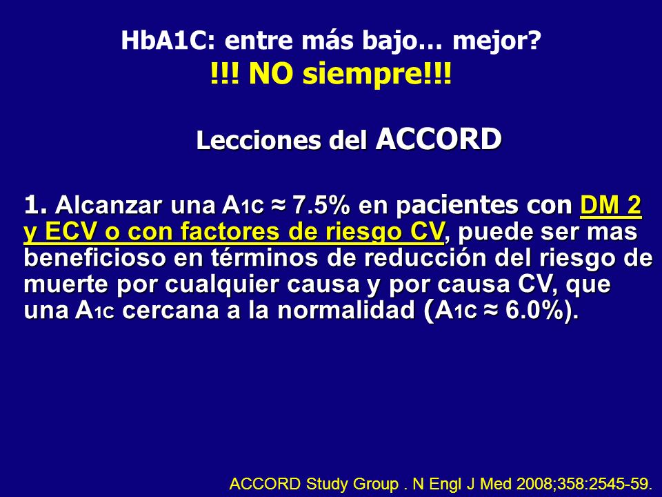 HbA1C: entre más bajo… mejor