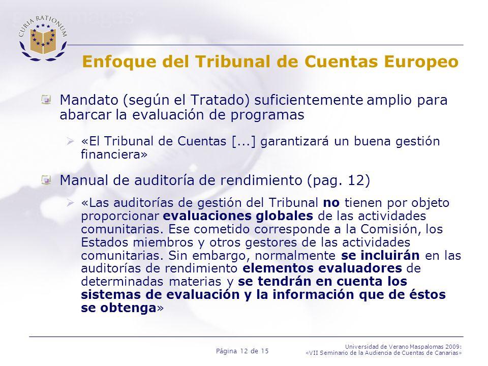 Enfoque del Tribunal de Cuentas Europeo