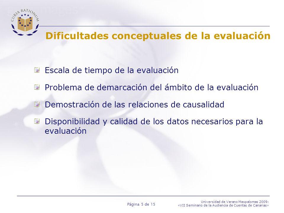 Dificultades conceptuales de la evaluación