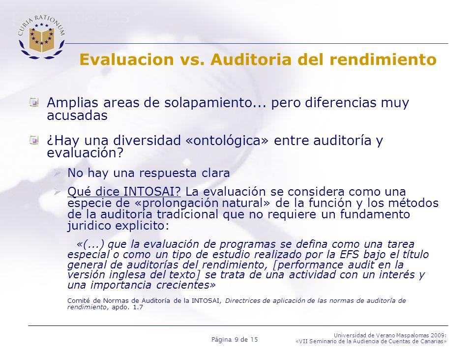Evaluacion vs. Auditoria del rendimiento