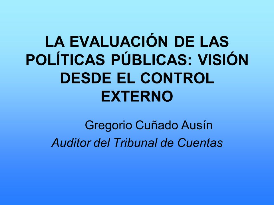 Gregorio Cuñado Ausín Auditor del Tribunal de Cuentas