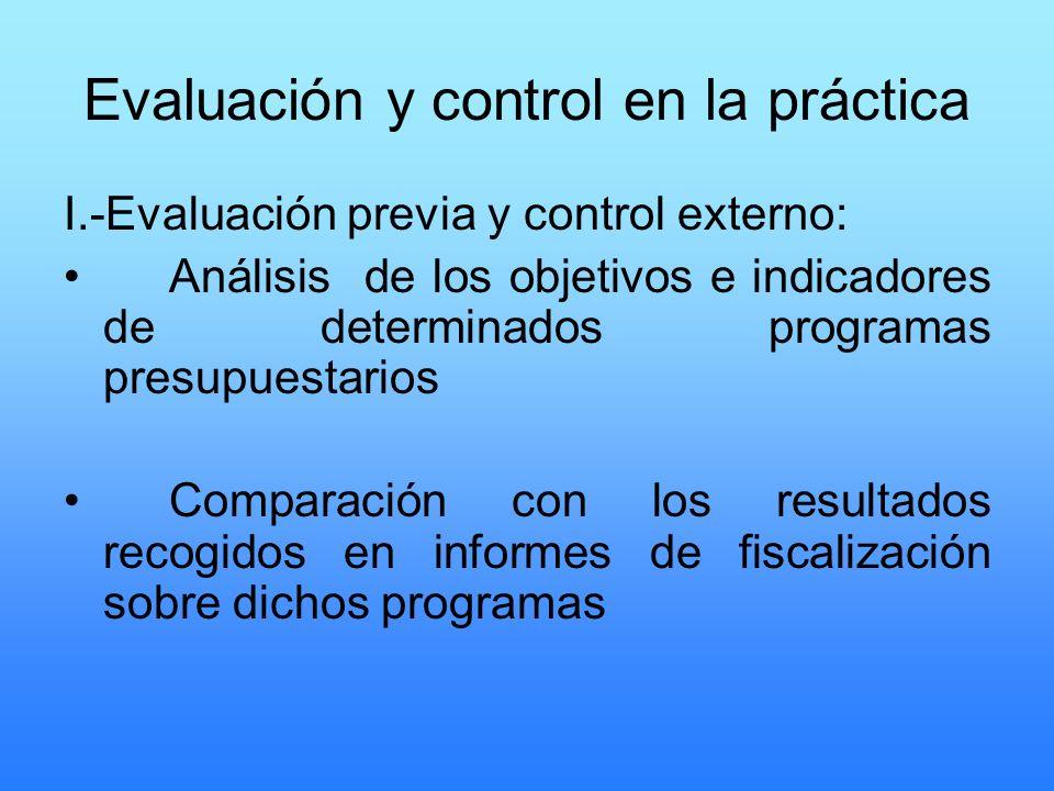 Evaluación y control en la práctica