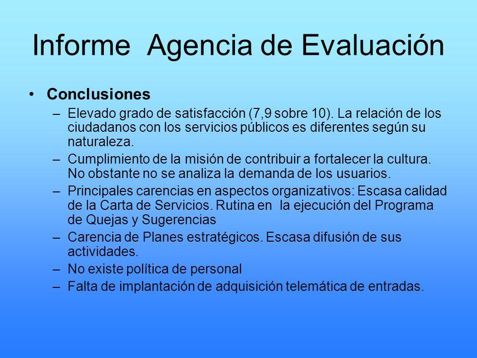 Informe Agencia de Evaluación