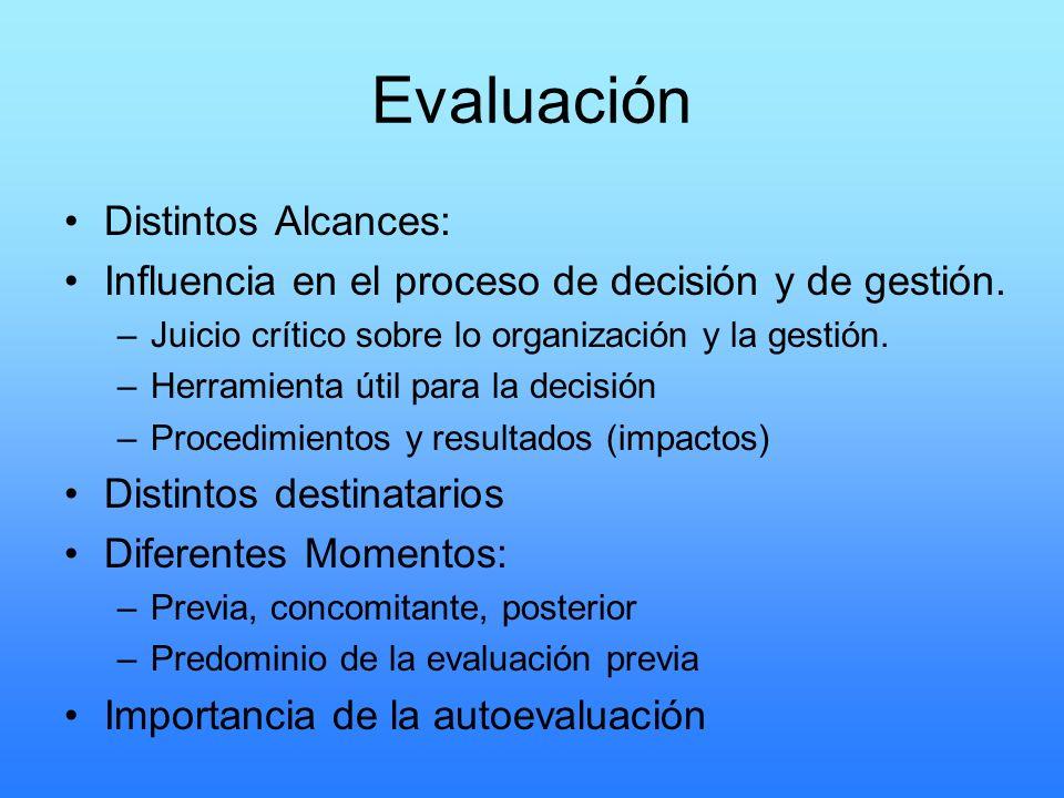 Evaluación Distintos Alcances: