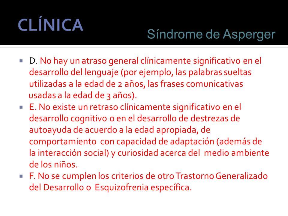 CLÍNICA Síndrome de Asperger
