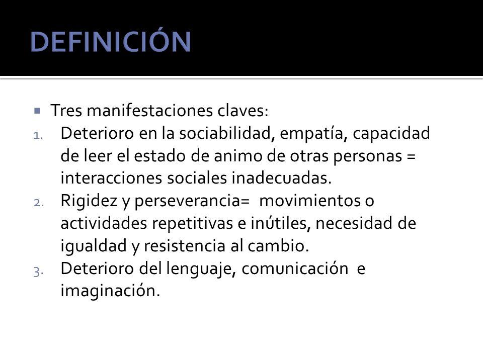 DEFINICIÓN Tres manifestaciones claves: