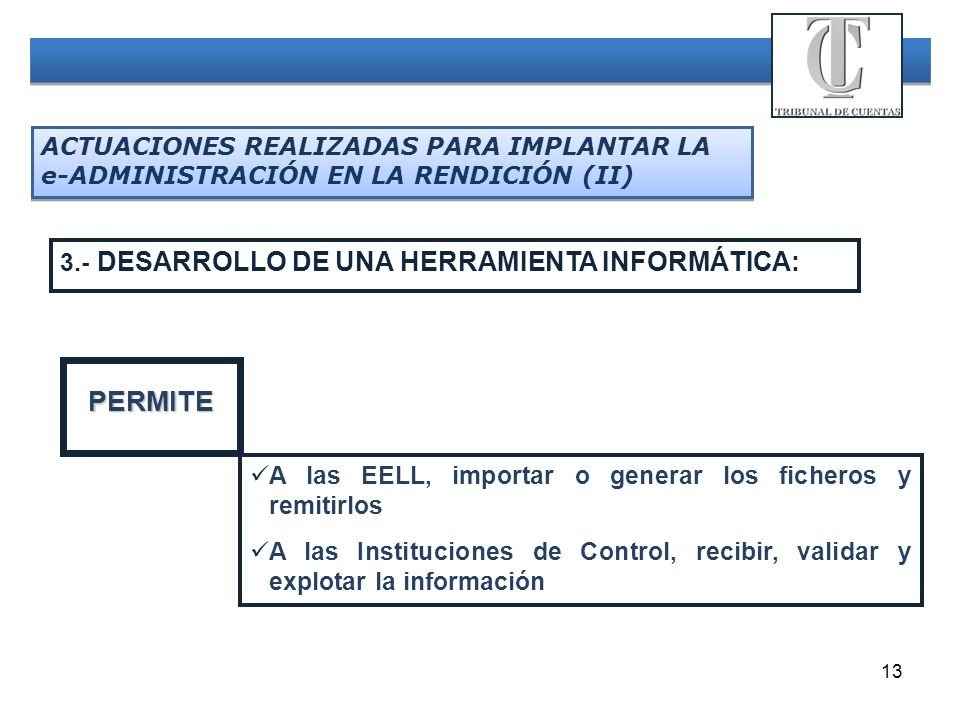 PERMITE 3.- DESARROLLO DE UNA HERRAMIENTA INFORMÁTICA: