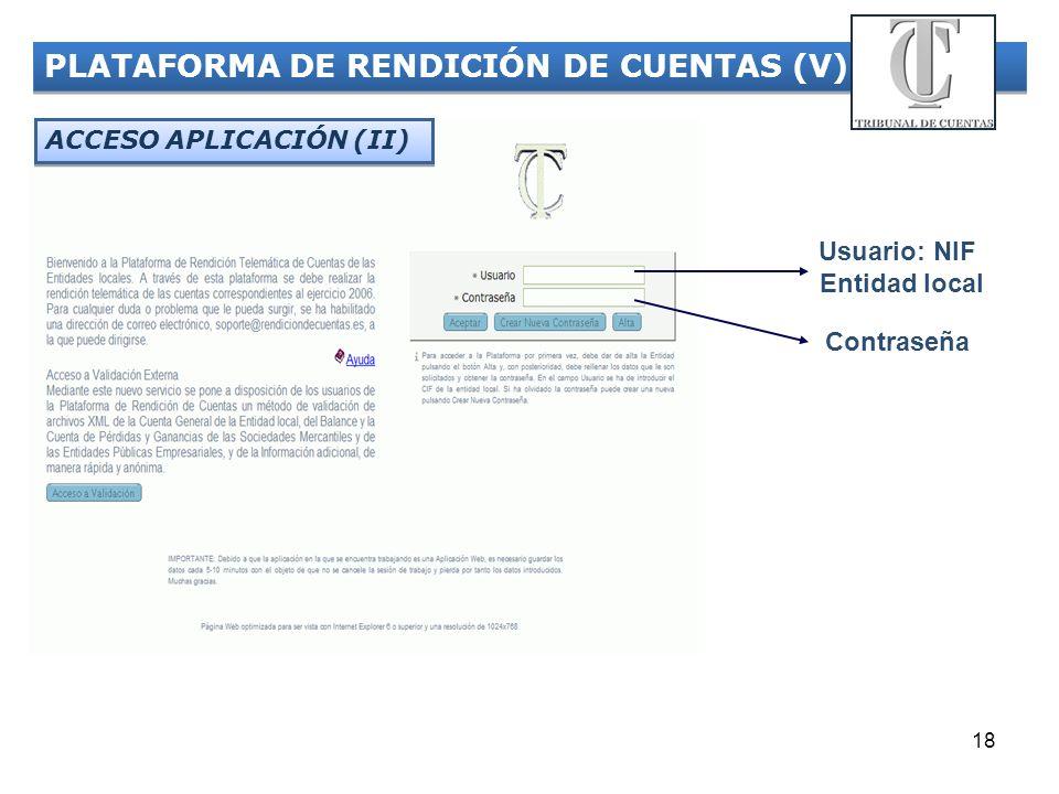 PLATAFORMA DE RENDICIÓN DE CUENTAS (V)