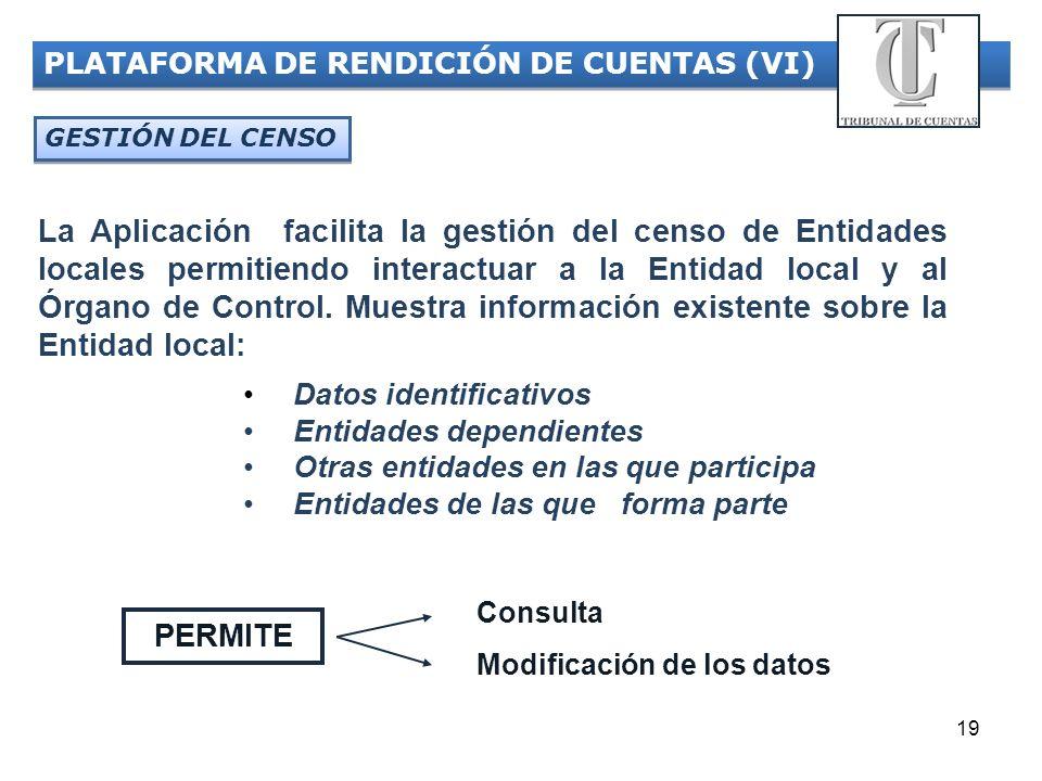 PLATAFORMA DE RENDICIÓN DE CUENTAS (VI)