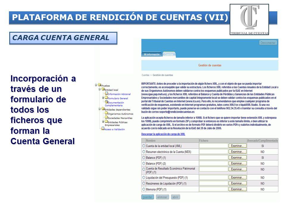 PLATAFORMA DE RENDICIÓN DE CUENTAS (VII)