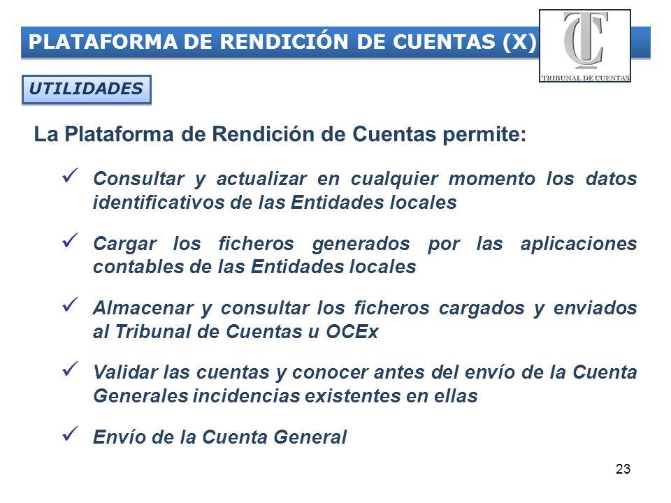 La Plataforma de Rendición de Cuentas permite: