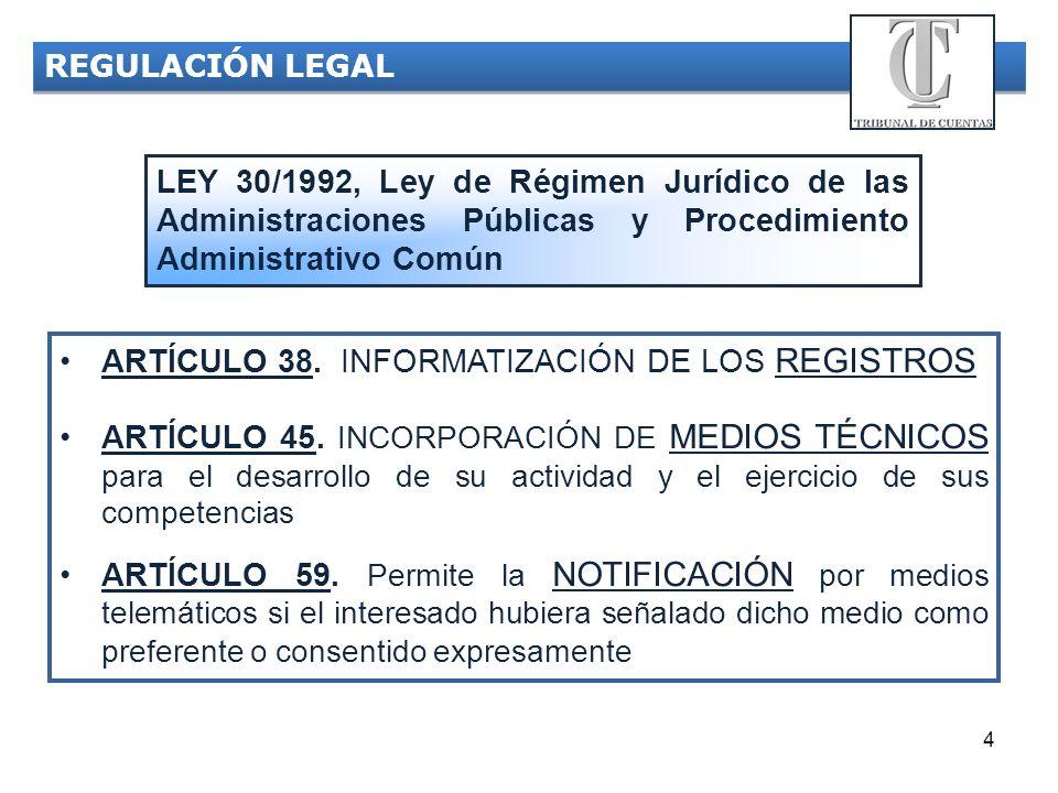 ARTÍCULO 38. INFORMATIZACIÓN DE LOS REGISTROS