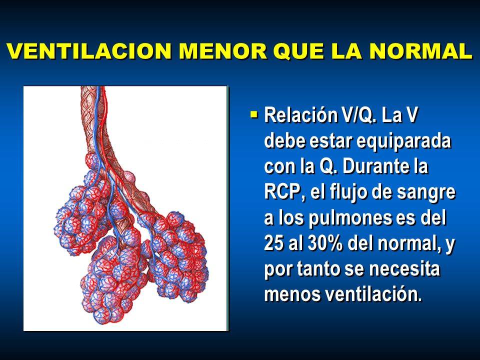 VENTILACION MENOR QUE LA NORMAL