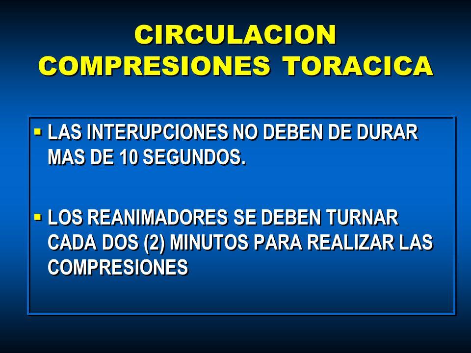 CIRCULACION COMPRESIONES TORACICA