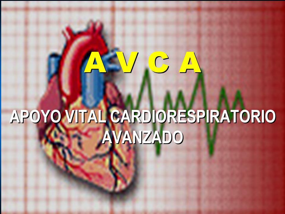 A V C A APOYO VITAL CARDIORESPIRATORIO AVANZADO